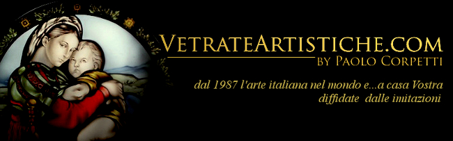 vetrate artistiche stained glass logo